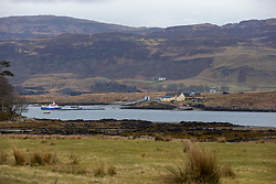 GV on the island looking towards the ferry area on the Isle of Mull. Feature on the community on the island of Ulva, who have been awarded £4.4m in funding for their island buyout.