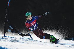 Daniela Ulbing (AUT) during parallel slalom FIS Snowboard Alpine World Championships 2021 on March 2nd 2021 on Rogla, Slovenia. Photo by Grega Valancic / Sportida