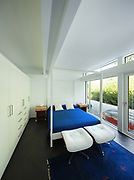 Architecture, comfortable bedroom of a modern house