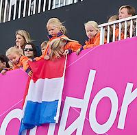LONDEN - Koninklijke familie ,maandag in de hockey wedstrijd tussen de mannen van Nederland en India tijdens de Olympische Spelen in Londen .ANP KOEN SUYK