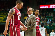 WACO, TX - JANUARY 24: Oklahoma Sooners head coach Lon Kruger has words with Ryan Spangler #00 against the Baylor Bears on January 24, 2015 at the Ferrell Center in Waco, Texas.  (Photo by Cooper Neill/Getty Images) *** Local Caption *** Ryan Spangler; Lon Kruger