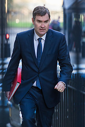 Downing Street, London, February 28th 2017. Chief Secretary to the Treasury David Gauke attends the weekly cabinet meeting at 10 Downing Street in London.