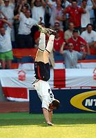 Fotball, 17. juni 2004, EM, Euro 2004, Sveits- England, WAYNE ROONEY CELEBRATES FIRST GOAL ENGLAND <br /> <br /> Foto: Digitalsport