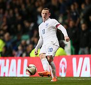 England's Wayne Rooney in action<br /> <br /> - International Friendly - Scotland vs England- Celtic Park - Glasgow - Scotland - 18th November 2014  - Picture David Klein/Sportimage
