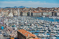 The Old Port of Marseille (French: Vieux-Port de Marseille) in Marseille, France.