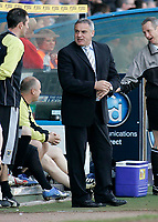 Photo: Mike Greenslade..Cardiff City v Sheffield Wednesday..Coca Cola Championship League..07.04.07..Ninian Park..KO 3pm...Cardiff Manager Dave Jones keeps an eye on the time