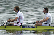 Hazewinkel. Belgium. Senior Trails. Josh WEST and Steve WILLIAMS.<br /> 13/04/2004  - 2004 GBR Rowing Trail -Hazenwinkel Belgium   [Mandatory Credit:peter SPURRIER/Intersport Images]