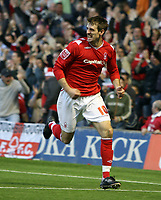 Photo: Rich Eaton.<br /> <br /> Nottingham Forest v Yeovil Town. Coca Cola League 1. Play off Semi Final 2nd Leg. 18/05/2007. Forests Scott Dobie celebrates after scoring a second half equalizer to make it 1-1