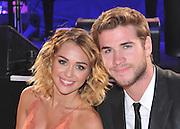 Miley Cyrus with Liam Hemsworth