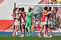 Football - 2021 / 2022 Women's Super League - Arsenal vs Chelsea - Emirates Stadium - Sunday 5th September 2021<br /> <br /> Arsenal celebrate at the final whistle.<br /> <br /> COLORSPORT/Ashley Western