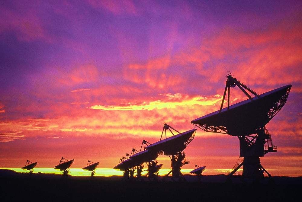 World's largest radio telescope, located near Socorro, New Mexico.