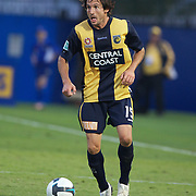 Andrew Clark in action during the Central Coast Mariners V Brisbane Roar A-League match at Bluetongue Stadium, Gosford, Australia, 19 December 2009. Photo Tim Clayton
