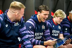 Sam Jeffries looks on in the Bristol Rugby dressing room - Rogan/JMP - 22/12/2017 - RUGBY UNION - Ashton Gate Stadium - Bristol, England - Bristol Rugby v Cornish Pirates - Greene King IPA Championship.