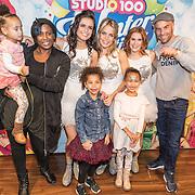 NLD/Amsterdam/20161126 - Studio 100 Winterfestival, Edsilia Rombley en dochter Imaani, Aisa-Lyn en partner Tjeerd Oosterhuis hebben een meet and greet met K3