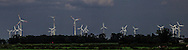 Windmills on the Elbe River in Germany.<br /> Photo by Dennis Brack