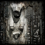 Egyptian stone figure from the British Museum, London
