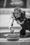 "Glasgow. SCOTLAND.  Russian, ""Skip"",  Victoria MOISEEVA, ""Round Robin"" Games. Le Gruyère European Curling Championships. 2016 Venue, Braehead  Scotland<br /> Monday  21/11/2016<br /> <br /> [Mandatory Credit; Peter Spurrier/Intersport-images]"