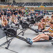 11:22 AM- Concept2 #13- Women?s 1000m U17<br /> <br /> NZ Indoor Champs, raced at Avanti Drome, Cambridge, New Zealand, Saturday 23rd November 2019 © Copyright Steve McArthur / @rowingcelebration www.rowingcelebration.com