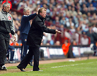 Photo: Chris Ratcliffe.<br /> Middlesbrough v West Ham United. The FA Cup, Semi-Final. 23/04/2006.<br /> Steve McLaren asks his players for more effort, and the England job?