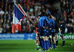 France sing national anthem  - Mandatory byline: Joe Meredith/JMP - 07966386802 - 01/10/2015 - Rugby Union, World Cup - Stadium:MK -Milton Keynes,England - France v Canada - Rugby World Cup 2015