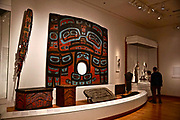 Seattle Art Museum,(SAM) Seattle, Washington,  First American Raven screen, paint, spruce, attributed to Naakustaa 1810