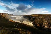 The Gullfoss Waterfall in the Golden Circle.