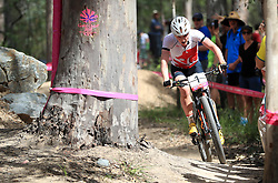 England's Annie Last competes in the Women's Cross-Country at the Nerang Mountain Bike Trails during day eight of the 2018 Commonwealth Games in the Gold Coast, Australia.