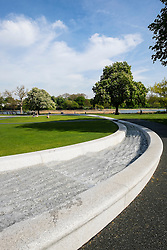 Princess Diana memorial fountain in Hyde Park London United Kingdom