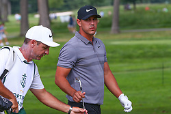 August 26, 2018 - Paramus, NJ, U.S. - PARAMUS, NJ - AUGUST 26:  Brooks Koepka of the United States during the final round of The Northern Trust on August 26, 2018 at the Ridgewood Championship Course in Ridgewood, New Jersey. (Photo by Rich Graessle/Icon Sportswire) (Credit Image: © Rich Graessle/Icon SMI via ZUMA Press)