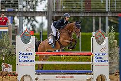 Van Andel Maxime, NED, Kabouem D'Oase<br /> Nationaal Kampioenschap KWPN<br /> 5 jarigen springen final<br /> Stal Tops - Valkenswaard 2020<br /> © Hippo Foto - Dirk Caremans<br /> 19/08/2020