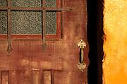 Doorway detail at the Santa Barbara Mission (Queen of the Missions), Santa Barbara, California USA