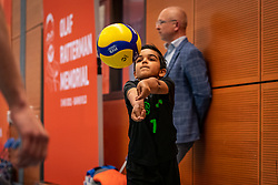Warming up for the first serve Luca Ratterman during the Olaf Ratterman Memorial match between Netherlands vs. Eredivisie All Star team on May 03, 2021 in Barneveld.
