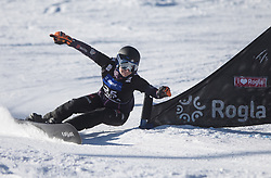 Kober Amelie during the women's Snowboard giant slalom of the FIS Snowboard World Cup 2017/18 in Rogla, Slovenia, on January 21, 2018. Photo by Urban Meglic / Sportida