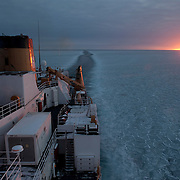 Sunrise seen from the icebreaker Polar Sea. Beaufort Sea