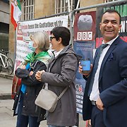 Protest against BBC Persian in London