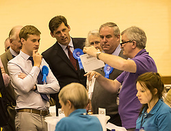 The count for the UK Parliamentary General Election 2017 for the Perth & North Perthshire Constituency takes place at Bell's Sports Centre in Perth.<br /> <br /> The four candidates standing for the seat are Peter Barrett (Scottish Liberal Democrats), Ian Duncan (Scottish Conservatives), David Roemmele (Scottish Labour) and Pete Wishart (SNP)<br /> <br /> Pictured: Conservative candidate Ian Duncan at the Perth and North Perthshire Count