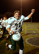 Cornwall's Pat Harris runs off the field after his team defated Harrison in a Class A state quarterfinal game at Mahopac High School in Mahopac on Nov. 10, 2006.