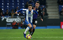 January 4, 2019 - Barcelona, Spain - Melendo and Vesga during the match between RCD Espanyol and CD Leganes, corresponding to the week 18 of the Liga Santander, played at the RCDE Stadium on 04th January 2019 in Barcelona, Spain. (Credit Image: © Joan Valls/NurPhoto via ZUMA Press)
