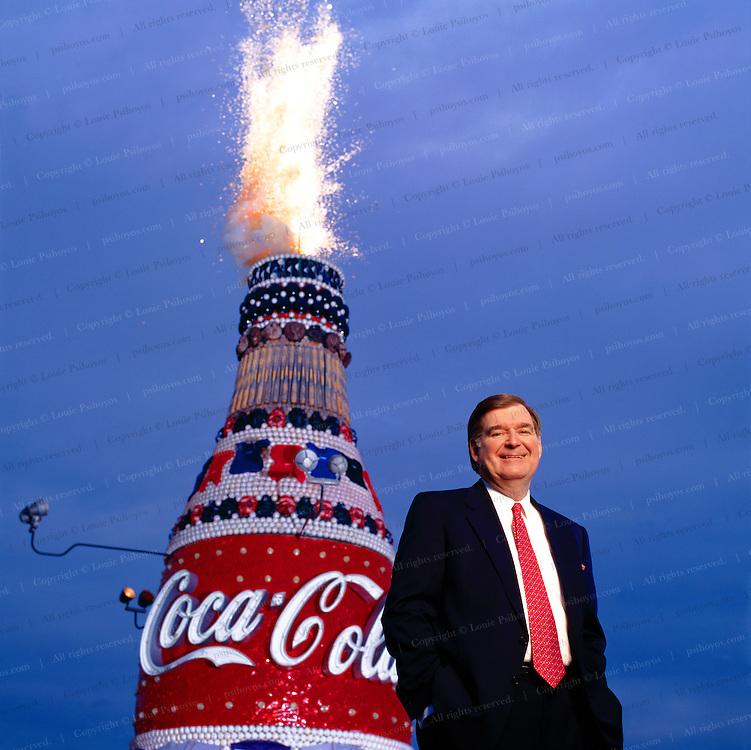 Douglas Ivester, CEO of Coca Cola at Turner Field in Atlanta.