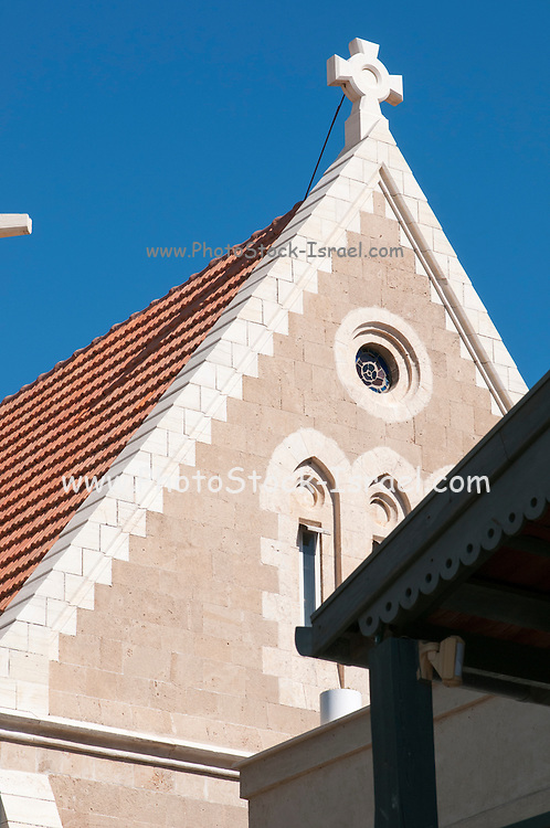 Israel, Tel Aviv, Jaffa, exterior of the Immanuel Lutheran Church. The church was built in 1904
