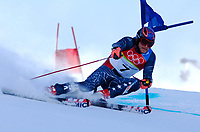 Photo: Catrine Gapper.<br />Winter Olympics, Turin 2006. Alpine Skiing Mens Giant Slalom. 20/02/2006. Bode Miller of USA finishes in sixth place.