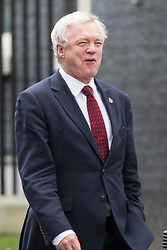 © Licensed to London News Pictures. 09/11/2016. London, UK. Secretary of State for Exiting the European Union David Davis leaving No 10 Downing Street. He chaired the first meeting of a new forum to discuss Brexit with ministers from the administrations of Northern Ireland, Scotland and Wales on 9 November 2016. Photo credit: Rob Pinney/LNP