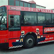 Coronel jarting reclame Conexxion bus