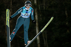 Anna Rupprecht of Germany soaring through the air during 1st Round at Day 1 of World Cup Ski Jumping Ladies Ljubno 2019, on February 8, 2019 in Ljubno ob Savinji, Slovenia. Photo by Matic Ritonja / Sportida