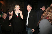Jodie Whittaker AND  Alistair Mackenzie, Tom Cairns directs Almeida Fundraising Benefit sponsored by Coutts and Co. -A Chain Play by Samuel Adamson, Moira Buffini, David Hare, Charlotte Jones, Frank McGuinness and Roy Williams. Almeida theatre. London. 23 March 2007.  -DO NOT ARCHIVE-© Copyright Photograph by Dafydd Jones. 248 Clapham Rd. London SW9 0PZ. Tel 0207 820 0771. www.dafjones.com.