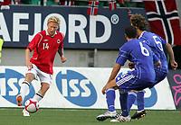 Fotball <br /> u21 em-kvalifisering<br /> 29.08.2010 <br /> Norge v Kypros 1-3<br /> color line stadion<br /> <br /> Fredrik carlsen - norge<br /> Valentinos Sielis - kypros<br /> Pantelis pitsillos - kypros<br /> <br /> <br /> Foto:Richard brevik Digitalsport