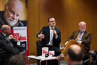 DEU, Deutschland, Germany, Berlin,28.02.2018: Dr. Gregor Gysi, Jens Spahn und Autor Manfred Lütz, bei der Buchvorstellung: Taugt das Christentum noch als geistiges Fundament Europas? Der Skandal der Skandale.