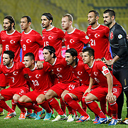 Turkey's group team during their FIFA World Cup 2014 qualifying soccer match Turkey betwen Romania at Sukru Saracoglu stadium in Istanbul october 12, 2012. Photo by TURKPIX