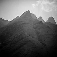 Landscape of mountains surrounding Ma Pi Leng Pass, Ha Giang Province, Vietnam, Southeast Asia