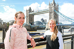 Molly Huddle and Emily Sisson shakeout run prior to racing the London Marathon